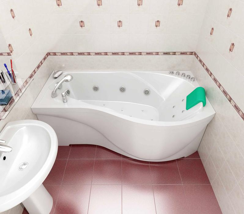 Купить акриловую угловую ванную