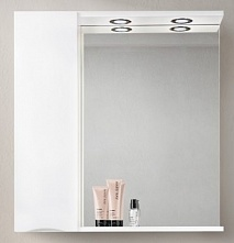 BelBagno Зеркало-шкаф MARINO-SPC-900/750-1A-BL-P-L Bianco Lucido