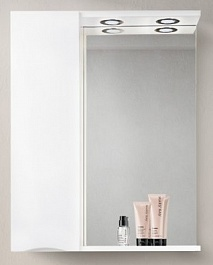 BelBagno Зеркало-шкаф MARINO-SPC-600/750-1A-BL-P-L Bianco Lucido