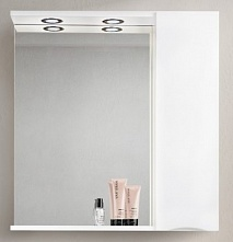 BelBagno Зеркало-шкаф MARINO-SPC-900/750-1A-BL-P-R Bianco Lucido